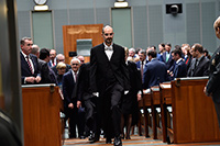 Serjeant-at-Arms leading members to the Senate chamber