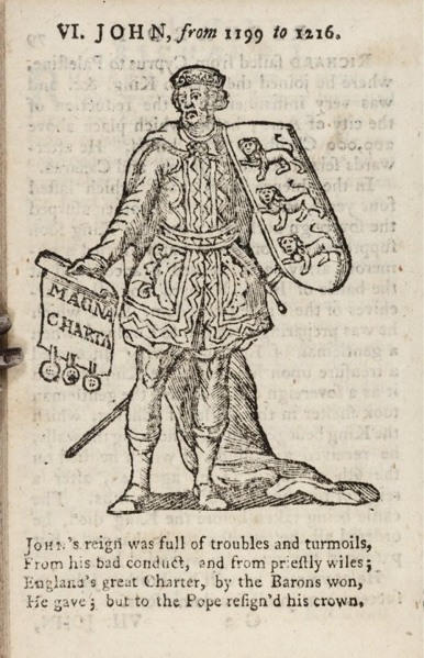 illustration of King John from A New History of England (1785)