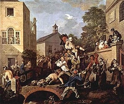 Figure 4: William Hogarth, An Election: Chairing the Member, 1754–1755 © Sir John Soane's Museum, London