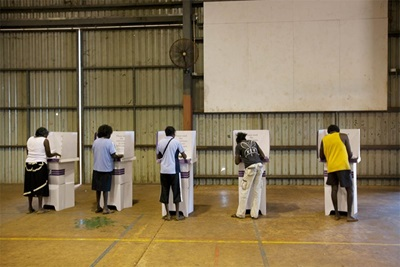 Figure 6: Tiwi Islands polling place during the 2010 election, Australian Electoral Commission