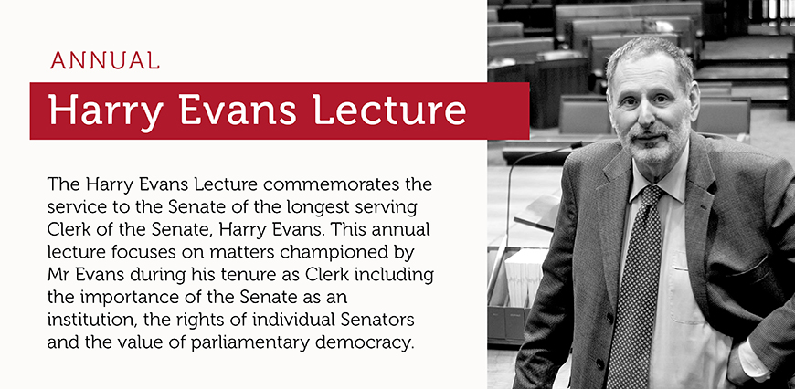 Annual Harry Evans Lecture - 20 September 2019