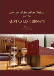 Image of the cover of the Annotated Standing Orders of the Australian Senate