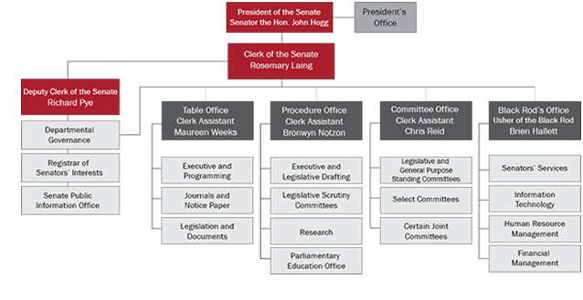 Figure 1 Organisational structure, 30 June 2013
