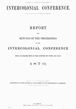 The June 1870 intercolonial conference and the path to Federation