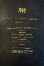 100th anniversary of the Parliament's Bible