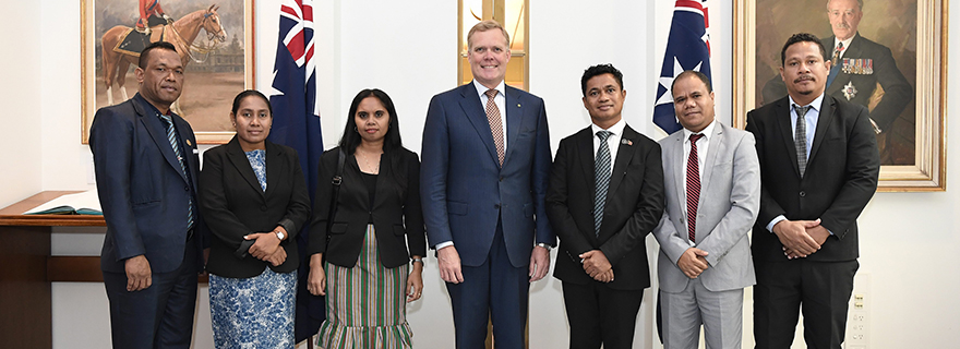 Australian Parliament welcomes a delegation from Timor-Leste