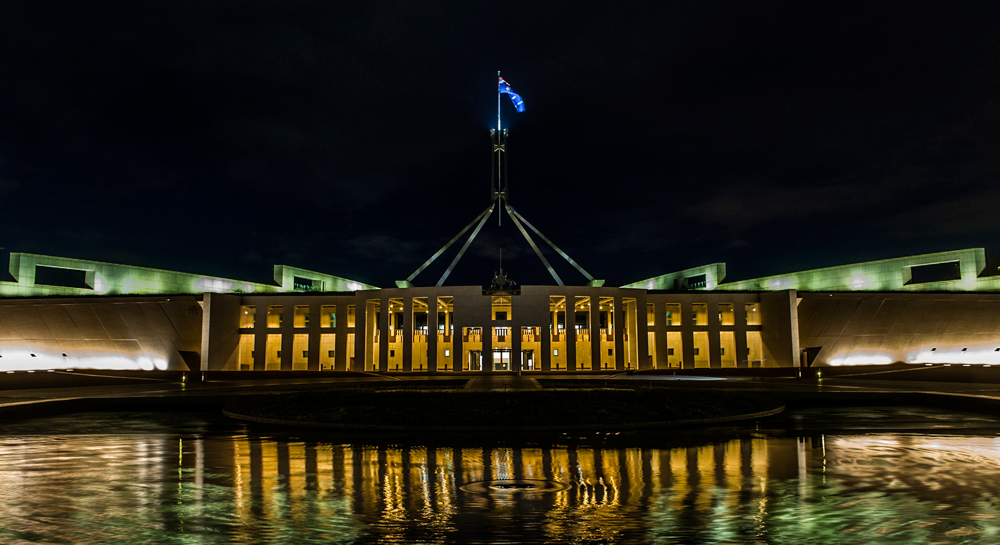 Parliament House at night