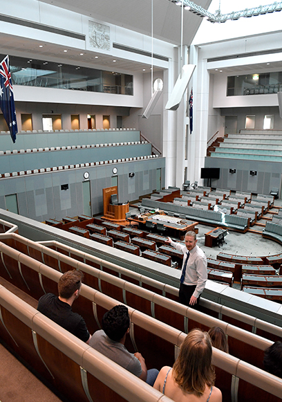 The architecture of Parliament House