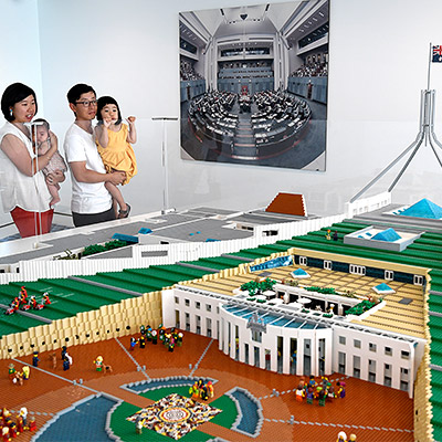 The House of Representatives Chamber and the Senate Chamber made from LEGO