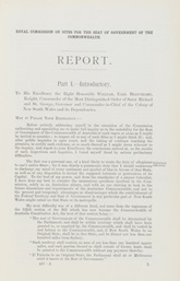 Report of the Commissioner on Sites for the Seat of Government of the Commonwealth, NSW Government, 30 October 1900