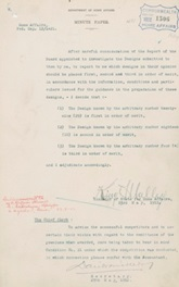 Memorandum from King O'Malley confirming the results of the Federal Capital City Design Competition, 23 May 1912