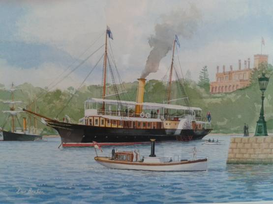 QGSY Lucinda at Farm Cove, 2004, by Don Braben (1937–). Courtesy of Don Braben, FASMA.