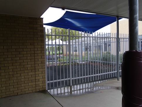 Image 4.2: A fenced seclusion area visible from the school playground