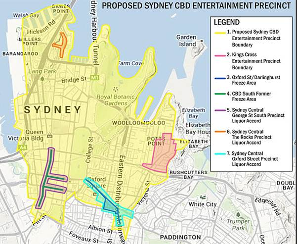 Figure 1.1 – Sydney CBD Entertainment Precinct