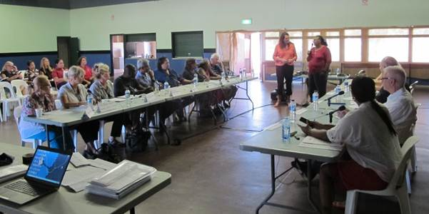 Ms Josephine (Josie) Farrer, Member for Kimberley, Western Australian Legislative Assembly gave a Welcome to Country before the committee's public hearing in Halls Creek, Western Australia, on 28 April 2015.