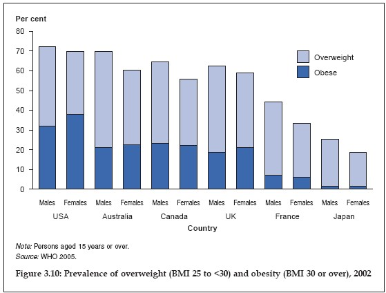 Prevalence of overweight and obesity 2002