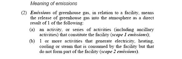 Meaning of emissions