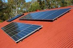A typical roof–top domestic PV panel installation