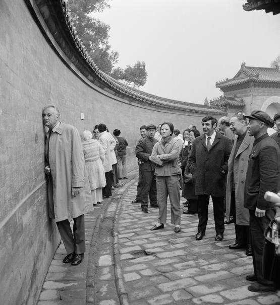 Prime Minister Gough Whitlam at 'Echo Wall', Temple of Heaven, Beijing, 1973