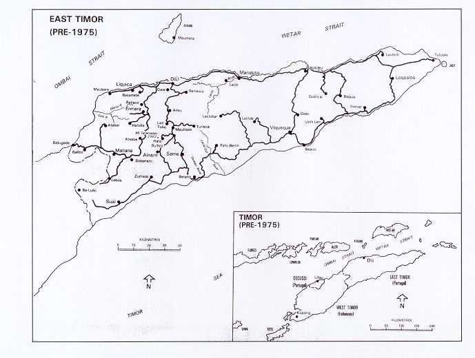 Map of East Timor (pre 1975)