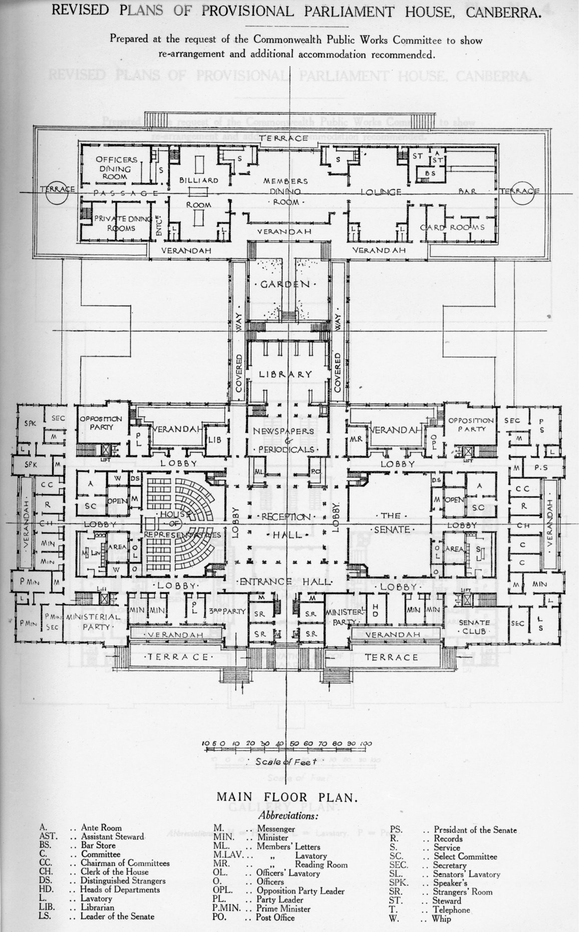 House Of Representatives Floor Plan As It Was In The Beginning Parliament House In 1927