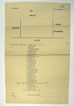 Division list used for the election of the Senate's first President, Sir Richard Baker