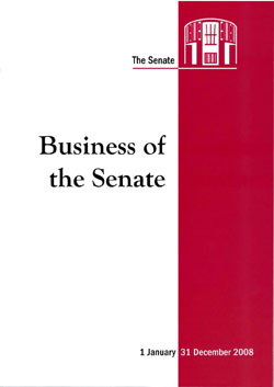 Cover of Business of the Senate