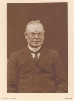 Senator Anthony St Ledger (Anti-Socialist, Qld) whose motion to disapprove certain Census questions led to the concept of business of the Senate (Source: National Library of Australia)