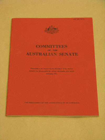 The report by McMullin was the first review of the committee system