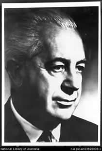 Prime Minister Harold Holt whose government was tarnished by the VIP planes affair (Source: National Library of Australia)