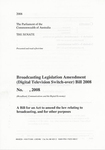 A bill as read a first time