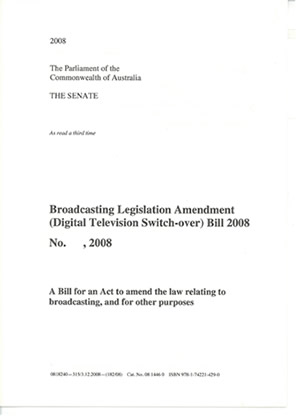 A bill as read a third time