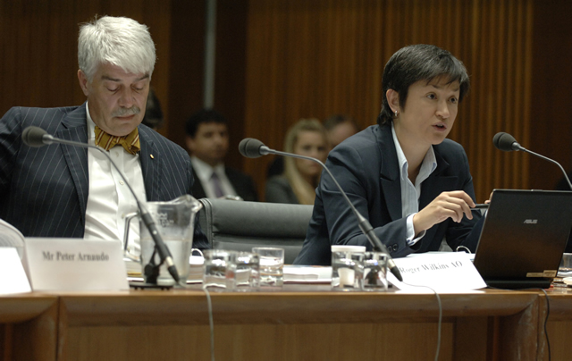 Witnesses before the Legal and Constitutional Affairs Legislation Committee (Photo courtesy of AUSPIC)