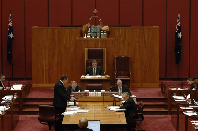 The President maintains order in the Senate (Photo courtesy of AUSPIC)