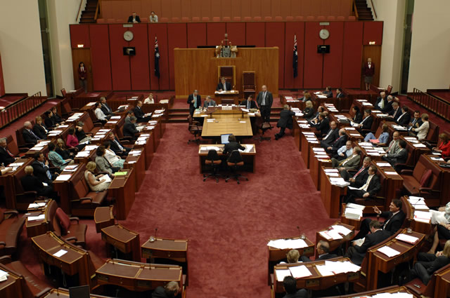 The Senate chamber (Photo courtesy of AUSPIC)