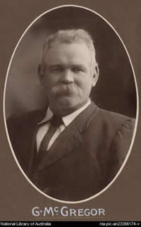 Senator Gregor McGregor (ALP, SA) who was blind, argued fiercely to retain the prohibition on reading of speeches (Source: National Library of Australia)