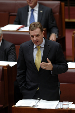 Ministers commonly speak in reply to the second reading debate on a bill. The reply closes the debate (Photo courtesy of AUSPIC)