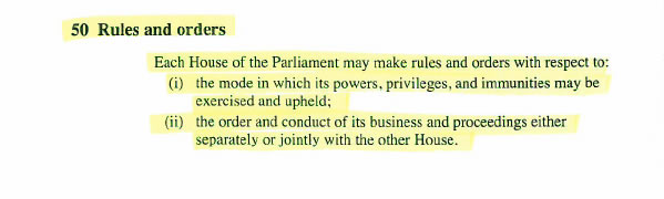 Section 50 of the Constitution