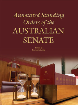 Front cover of 'Annotated Standing Orders of the Australian Senate'