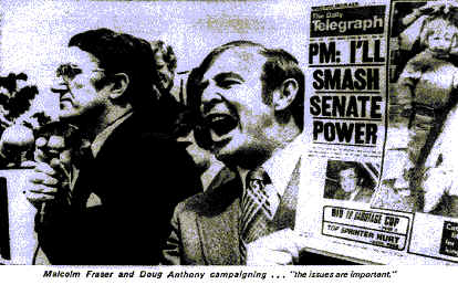 Malcolm Fraser and Doug Anthony Campaigning