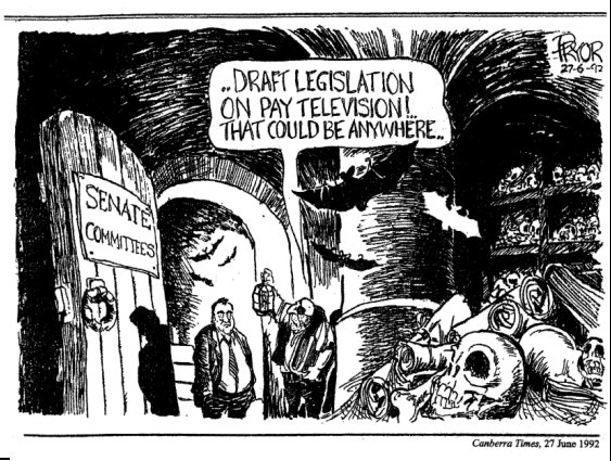 cartoon, Canberra Times, 1992