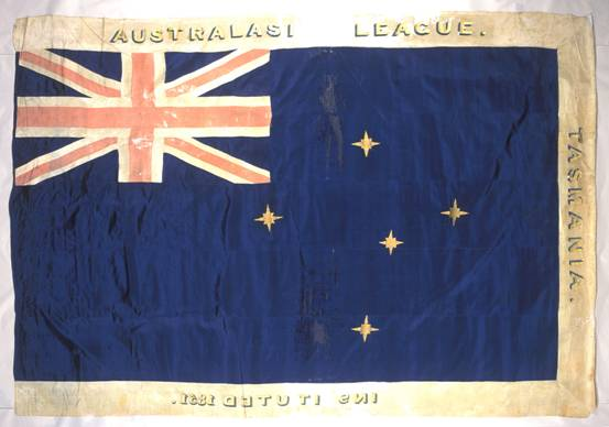 Banner of the Australasian League, 1851