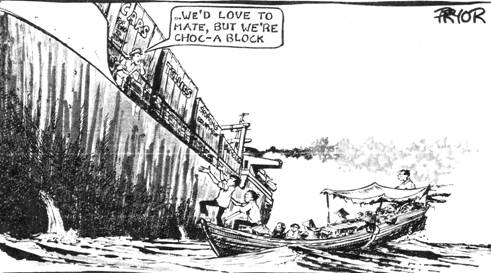 Geoff Pryor, 'We'd love to mate, but we're choc-a block', [2001]