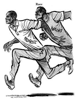 'Race', 1968 Herblock cartoon, copyright by The Herb Block Foundation