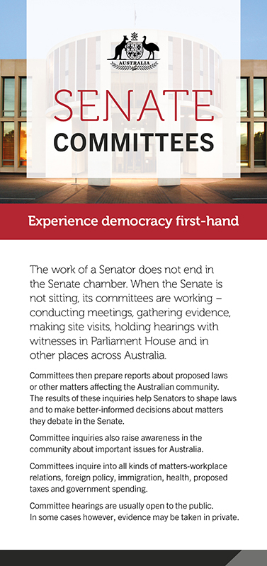 information on senate committees and getting involved