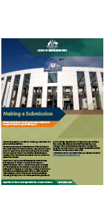 Making a submission to a Committee inquiry – Parliament of Australia