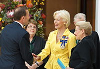 The Speaker presents the Hon Tony Abbott MP, Prime Minister of Australia, to the Governor-General.
