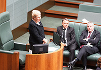 Speaker Bishop in the chair, House of Representatives chamber