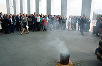 Thumbnail image: The Smoking Ceremony on the Great Verandah of Parliament House.