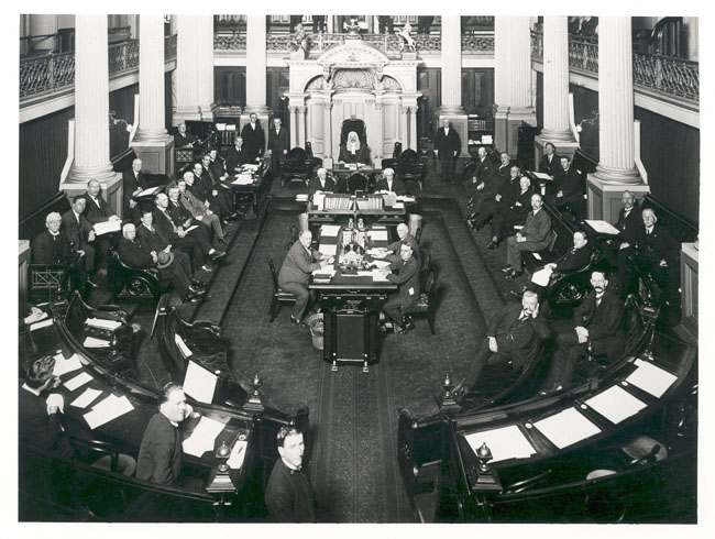 The Senate, Parliament House, Melbourne, 10 August 1923 nla.pic- vn4199499, National Library of Australia